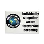 God Becoming Rectangle Magnet (100 pack)
