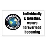 God Becoming Sticker (Rectangle)