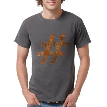 Orange Hashtag Cloud Mens Comfort Colors Shirt