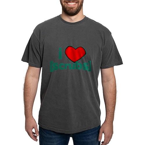 I Heart Scrubs Mens Comfort Colors Shirt