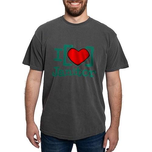 I Heart Janitor Mens Comfort Colors Shirt