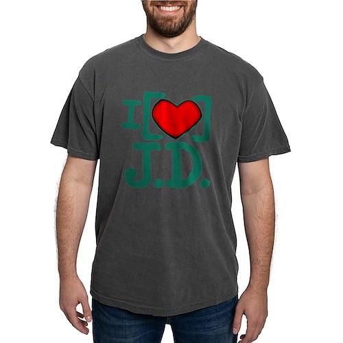 I Heart J.D. Mens Comfort Colors Shirt