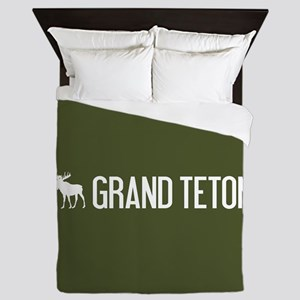 Grand Teton Moose Queen Duvet