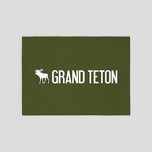 Grand Teton Moose 5'x7'Area Rug