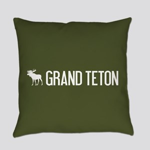 Grand Teton Moose Everyday Pillow