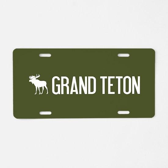 Grand Teton Moose Aluminum License Plate