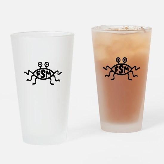 Flying Spaghetti Monster Drinking Glass