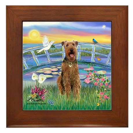 Lilies (JF) & Airedale Framed Tile