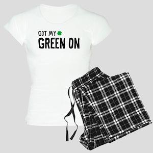 Got My Green On Women's Light Pajamas