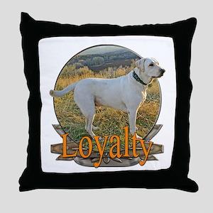 Labrador loyalty Throw Pillow