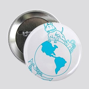 "Pit Bull, Globe, and Anchor (Teal) 2.25"" Button"