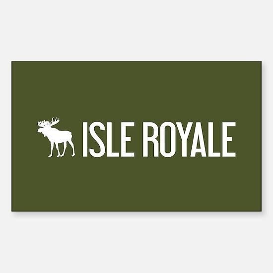 Isle Royale Moose Sticker (Rectangle)