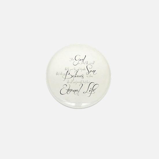 John 3:16 script Mini Button
