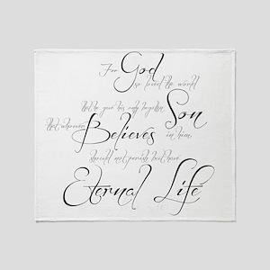 John 3:16 script Throw Blanket