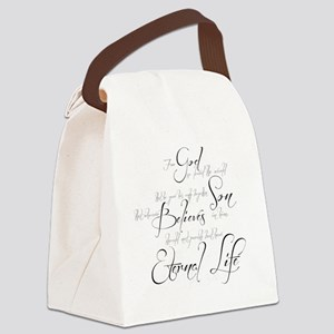 John 3:16 script Canvas Lunch Bag