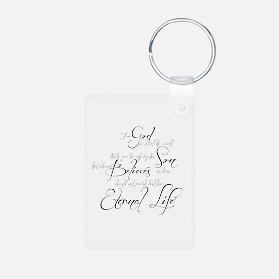 John 3:16 script Keychains