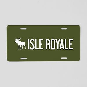 Isle Royale Moose Aluminum License Plate