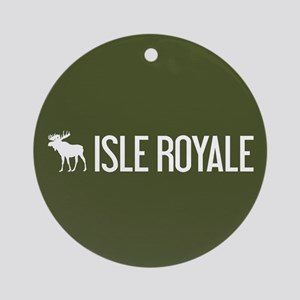 Isle Royale Moose Round Ornament