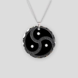 BDSM Emblem - Chrome Look Necklace Circle Charm
