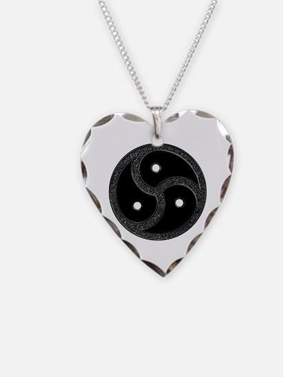 BDSM Emblem - Chrome Look Necklace