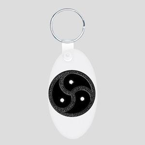 BDSM Emblem - Chrome Look Aluminum Oval Keychain