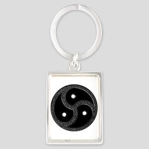 BDSM Emblem - Chrome Look Portrait Keychain