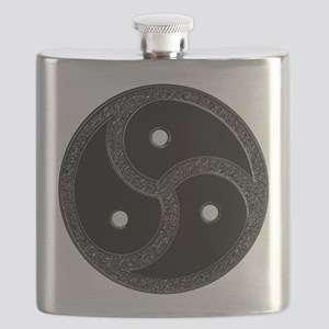 BDSM Emblem - Chrome Look Flask