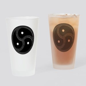 BDSM Emblem - Chrome Look Drinking Glass