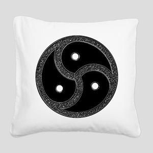 BDSM Emblem - Chrome Look Square Canvas Pillow