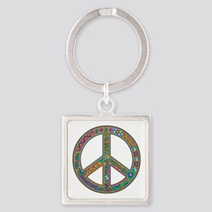 Peace Square Keychain