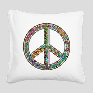 Peace Square Canvas Pillow