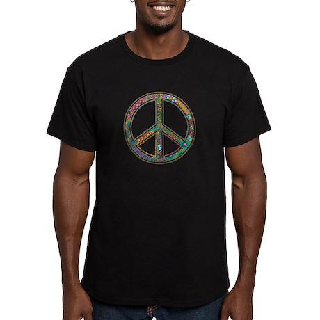 Gli Uomini Verdi Di Pace Attrezzata T-shirt (scuro) fTdbqmRE