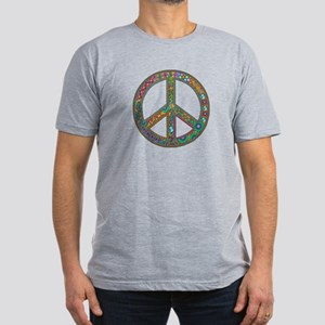Peace Men's Fitted T-Shirt (dark)