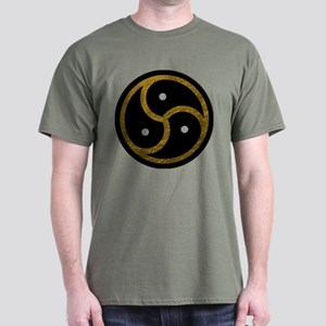 Gold Metal Look BDSM Emblem Dark T-Shirt