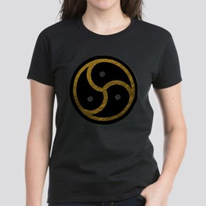 Gold Metal Look BDSM Emblem Women's Dark T-Shirt