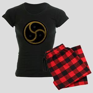 Gold Metal Look BDSM Emblem Women's Dark Pajamas