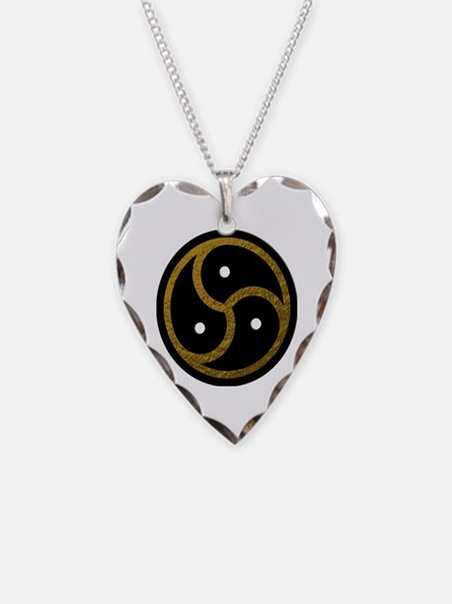 Gold Metal Look BDSM Emblem Necklace
