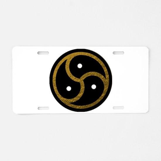 Gold Metal Look BDSM Emblem Aluminum License Plate