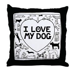 I Love My Dog - Throw Pillow