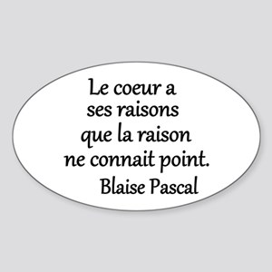 Coeur Pascal Sticker (Oval)