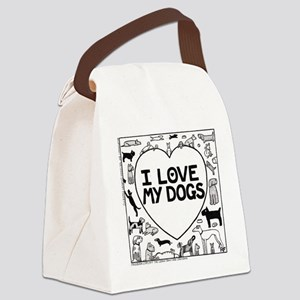 I Love My Dogs - Canvas Lunch Bag