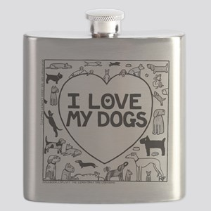 I Love My Dogs - Flask