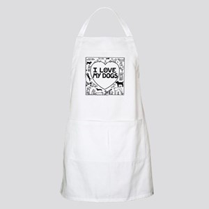 I Love My Dogs - Apron