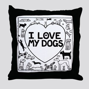 I Love My Dogs - Throw Pillow