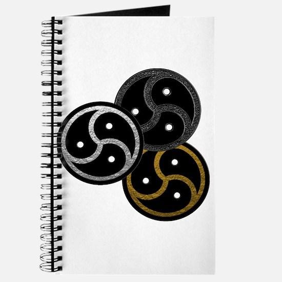 Tri-Colored BDSM Emblems Journal