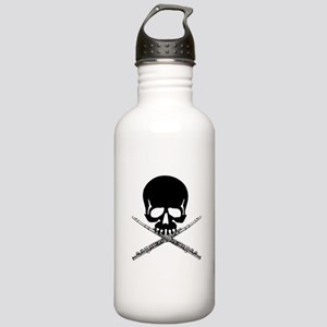 Skull with Flutes Water Bottle