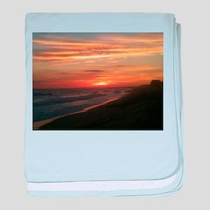 Nantucket Sunset baby blanket