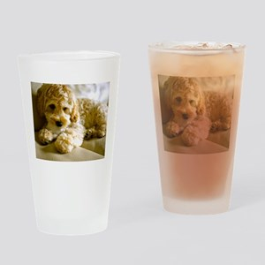 The Cockapoo Puppy Drinking Glass