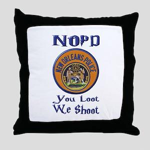NOPD You Loot We Shoot Throw Pillow