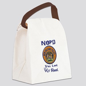 NOPD You Loot We Shoot Canvas Lunch Bag